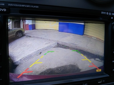 van rear view camera image
