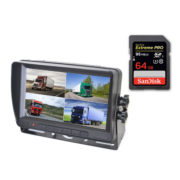 quad rear view monitor with built-in DVR