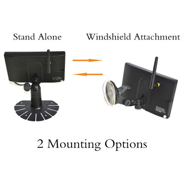 wireless backup monitor 2 mounting option