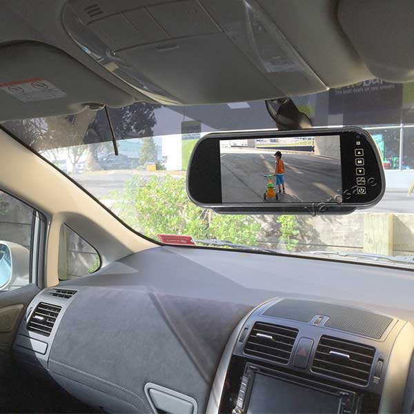 Aftermarket Backup Camera >> Backup Camera System With Clip On Mirror Mount Monitor For Ford Transit
