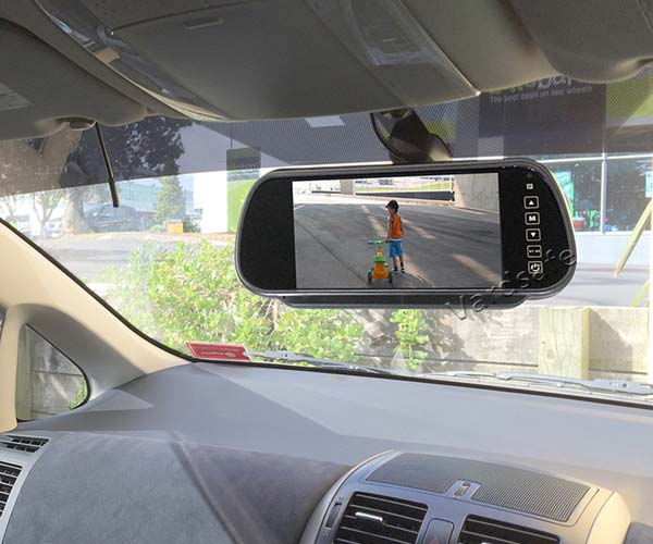 clip on rear view mirror monitor installation guide