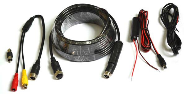 Vardsafe backup camera cable and AC
